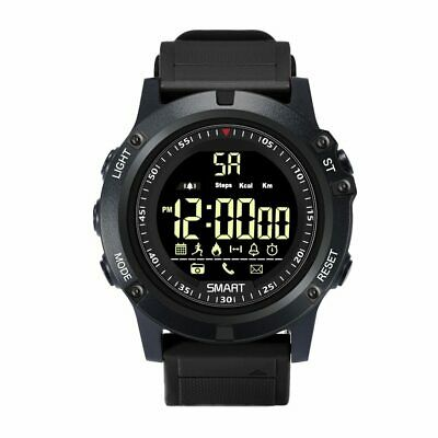 T1 Tact Smart Watch 5ATM Military IP68 Waterproof Pedometer Android iOS Bt
