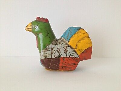 Folk Art Quirky Painted Rooster / Chicken