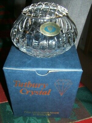 Tutbury Crystal - Posy Bowl. Full Lead Hand Made In England. Mint In Box.