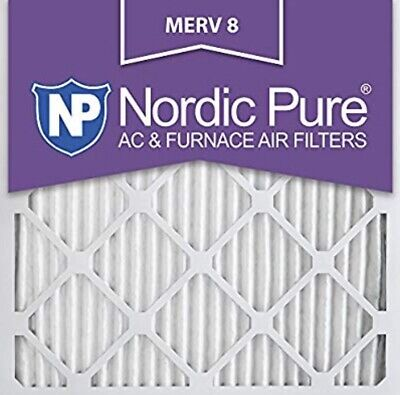 Nordic Pure 16x16x1 Pleated MERV 8 Air Filters 6 Pack