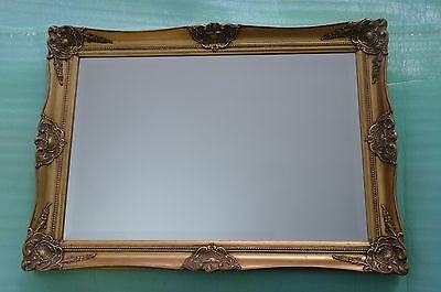 "ROCOCO STYLE-FRENCH-OVER MANTLE-35""x 25""-7KG-ORNATE-BEVELLED-WALL MIRROR"
