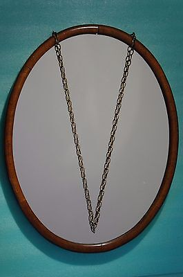"Reflective Touch Unique-Victorian Mixed Wood-Plain Wall.mirror-Oval19""x15"""