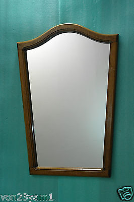 "CLASSIC VINTAGE/ ANTIQUE-1930s-50s-18""x 25""-ARCHED OAK FRAME-WALLMIRROR"