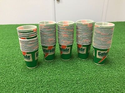 4bc15d63eed4af RARE Vintage 1984 Lot 100 Wax Paper GATORADE CUPS Thirst Quencher LOGO Game  TEAM