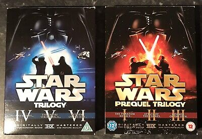 Star Wars Complete Original & Prequel Trilogy Dvds Remastered Very Good Con