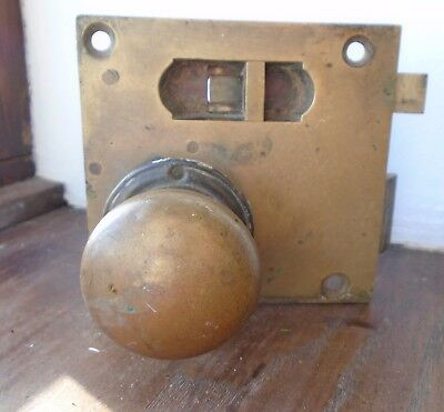 BRASS BATH ROOM LOCK with BRASS HANDLES