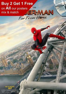 Spiderman Far From Home 2019 London Teaser Poster A5 A4 A3 A2 A1