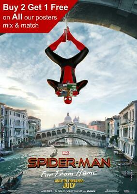 Spiderman Far From Home 2019 Venice Teaser Poster A5 A4 A3 A2 A1