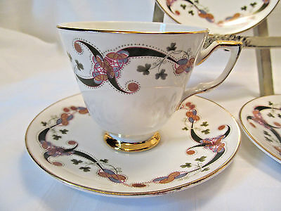 Royal Tara Ireland Fine Bone China CLONFERT Six (6) Cup & Saucer Sets REDUCED!