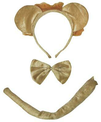 Halloween Brown Lion Animals Headband Bow Tail 3p Kid School Party Costume