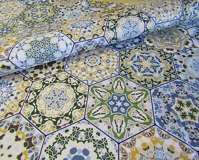 Portuguese Tiles Waterproof fabric Water Resistant Fabric Bag Outdoor Cushion
