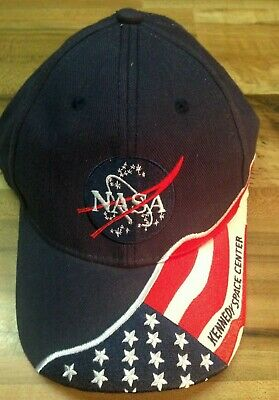 f8e1565c3f5b0 NASA Kennedy Space Center KSC American Flag Baseball Cap - One Size Fits  All NEW