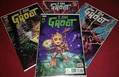 1ST PRINTING BAGGED /& BOARDED GUARDIANS OF THE GALAXY 2017 I AM GROOT #4