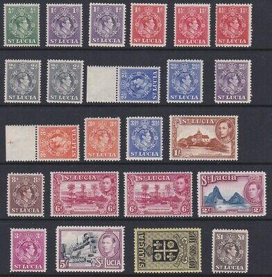 St Lucia GVI 1938 MINT culture & scenes set sg128-141 with some perfs & shades