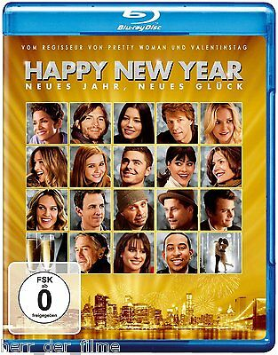HAPPY NEW YEAR (Halle Berry, Jessica Biel, Jon Bon Jovi) Blu-ray Disc NEU+OVP