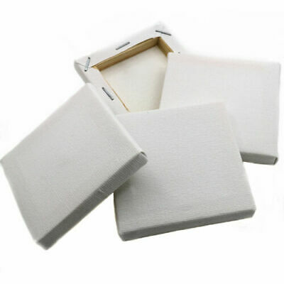 "12x WHITE FRAMED MINI CANVASES"" - 7x7cm Artist Stretched ACRYLIC/OIL Paint/Box"