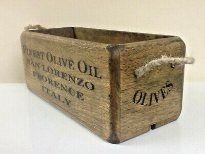 Finest Olive Oil storage crate, Florence Italy antique vintage Style wooden trug