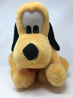 Disneyland Walt Disney World Parks Exclusive Sitting Pluto Dog Stuffed Plush Toy