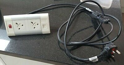 Desk top power point UK white with ethernet port. Job lot 40.