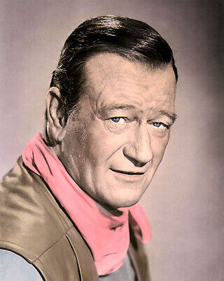 "John Wayne Chism 1970 Hollywood Actor Western Star 8X10"" Hand Color Tinted Photo"