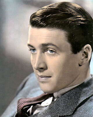 """JAMES """"JIMMY"""" STEWART HOLLYWOOD ACTING LEGEND 8x10"""" HAND COLOR TINTED PHOTOGRAPH"""