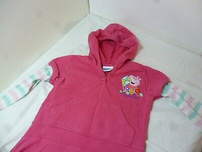 Peppa Pig Girls Hoodie Dress Ages 2 - 3  Debenhams