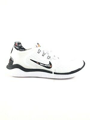 919cb57aac72 Nike Free RN 2018 JUST DO IT Womens Size 7.5 White Black Total Orange  AT4247 100