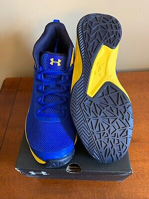 detailed look 2ff2a 963f8 Under Armour Youth Jet 2018 Basketball Shoes Size 6.5Y Blu Blk Ylw (