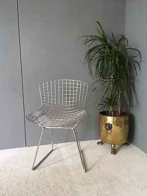 Fabulous Vintage Retro Harry Bertoia Style Chrome Wire Chair