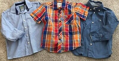 3 X Boys Shirts Age 4-5yrs Bluezoo/Next/H&M Fab Condition 👍 Lovely Shirts