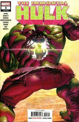 IMMORTAL HULK ISSUE 3 - SOLD OUT FIRST 1st PRINT - MARVEL COMICS ALEX ROSS COVER