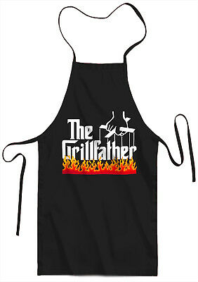 The Grillfather Funny Parody BBQ Apron - Joke Gift Father`s Day, Birthday