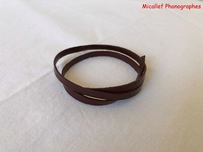 "Brown leather Belt for Phonograph Pathé Columbia (15,7"")"