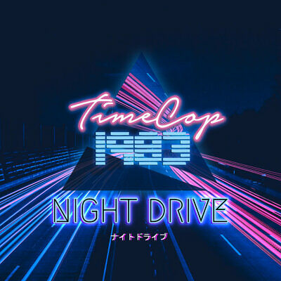 TIMECOP1983 - NIGHT DRIVE | Limited Edition Black & Blue Swirl Vinyl 2LP | Mint