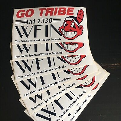 CLEVELAND INDIANS GO Tribe stickers Advertising WFIN radio