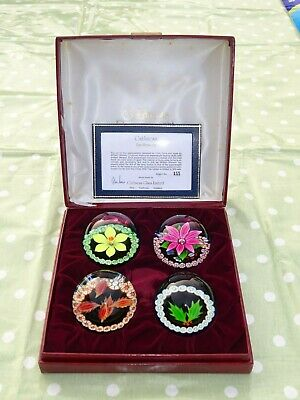 1976 Cased Limited Edition Caithness Glass Paperweight Four Seasons Set 155/500