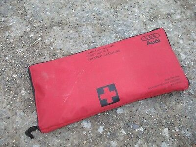 Genuine AUDI First Aid Kit Zipper Pouch - Pre Owned Never Used