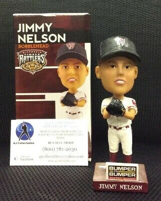 Jimmy Nelson Wisconsin Timber Rattlers/BREWERS 2015 BOBBLEHEAD NIB