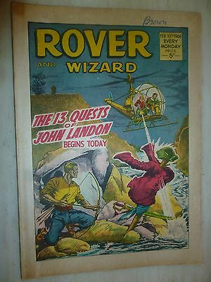 Comic- THE ROVER and WIZARD - 10th February 1968