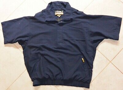 a80a432ec0d ZERO RESTRICTION GORE-TEX SHORT SLEEVE 1 4 ZIP GOLF PULLOVER JACKET Navy  Blue