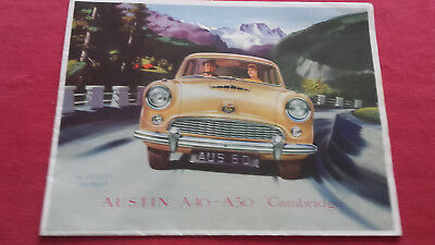 "Catalogue publicitaire Austin A40-A50 ""Cambridge"" 1954 en français"