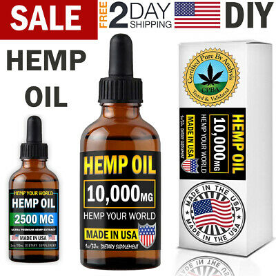 Organic Hemp Oil for Pain Relief Help to Sleep Joint Support Anti Inflammatory