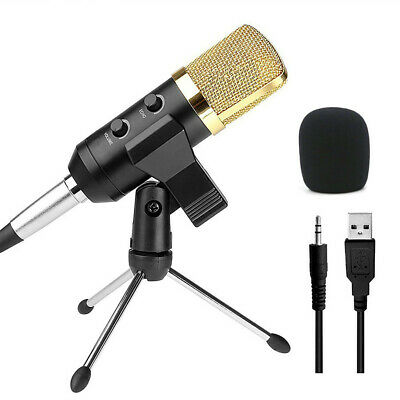 Audio Dynamic USB Condenser Sound Recording Vocal Microphone Mic With Stand Moun