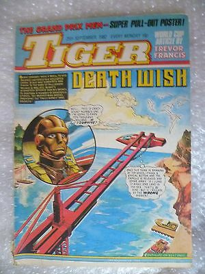 Tiger Comic- World Cup Article by Trevor Francis -Death Wish 25th Sept 1982