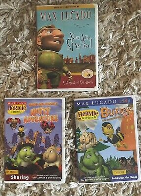 Lot of 3 Christian Max Lucado DVDs Hermie Buzby You Are Special