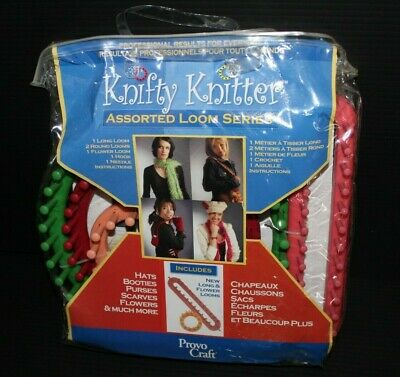 Knifty Knitters Assorted Loom Series Set by Provo Craft for Hats, Scarves & More