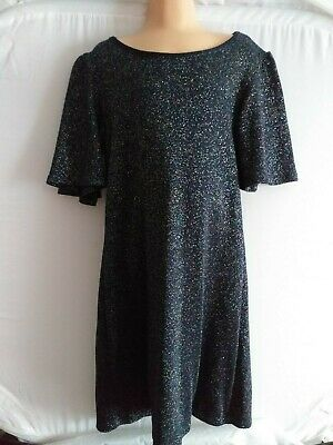 NEXT Girls size 7 Years Black sparkly dress.  Worn once.  FAST POSTAGE