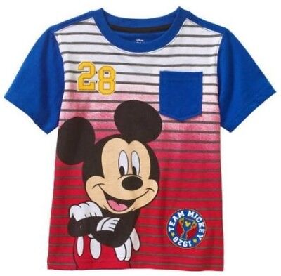 Mickey Mouse Toddler Boys Short Sleeve Pocket T-Shirt -- Size 3T