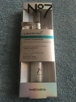 No7 Laboratories Line Correcting Booster Serum 0.5 OZ New SEALED 100% AUTHENTIC
