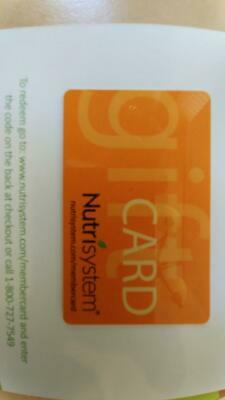 $400 Nutrisystem Gift Card Fast Free Shipping Best Price $100 off